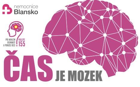 """Kampaň """"Čas je mozek"""" opět v Nemocnici Blansko –  v pondělí 4.11.2019"""