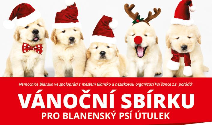 Vánoční sbírka pro blanenský psí útulek